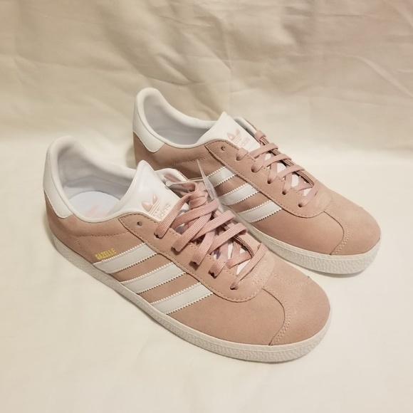 Adidas Gazelle J BY9544 Girls Size 6.5 Ice Pink Boutique